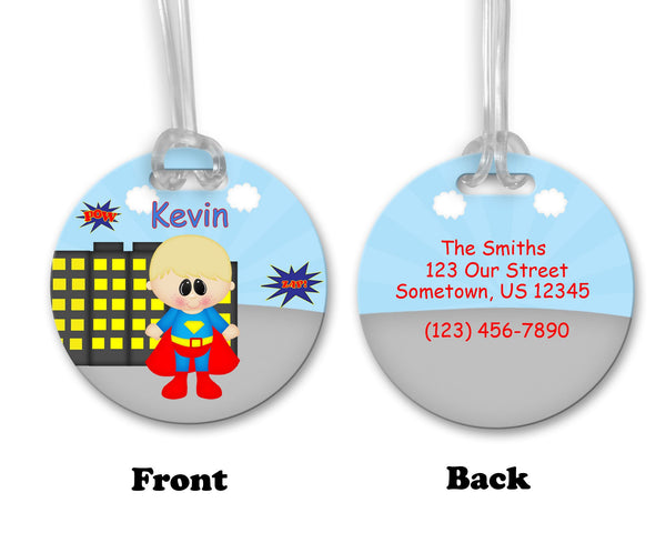Superman Superhero Bag Tag