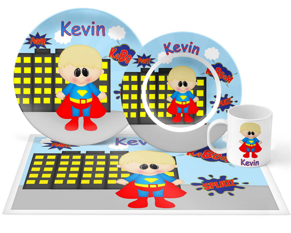 Superman Superhero Kids Placemat