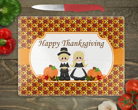 Thanksgiving Pilgrim Personalized Cutting Board