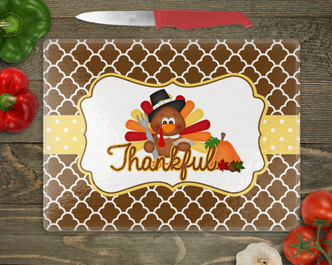Thanksgiving Turkey Personalized Cutting Board