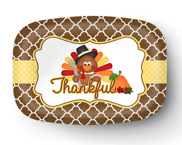 Thanksgiving Turkey Personalized Platter
