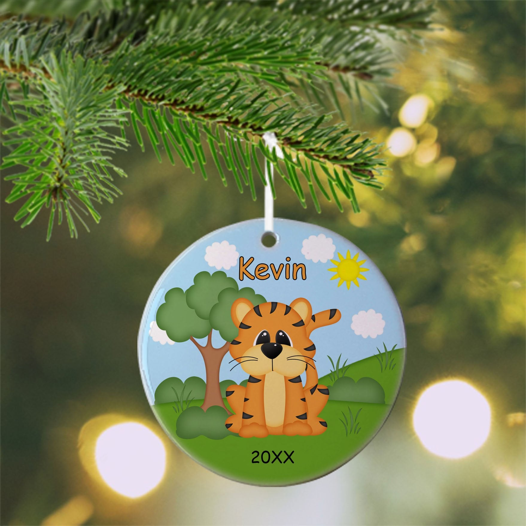 At the Zoo Tiger Christmas Ornament