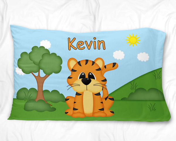 At the Zoo Tiger Pillow Case