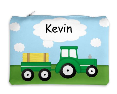 Tractor Green Kids Pencil Case