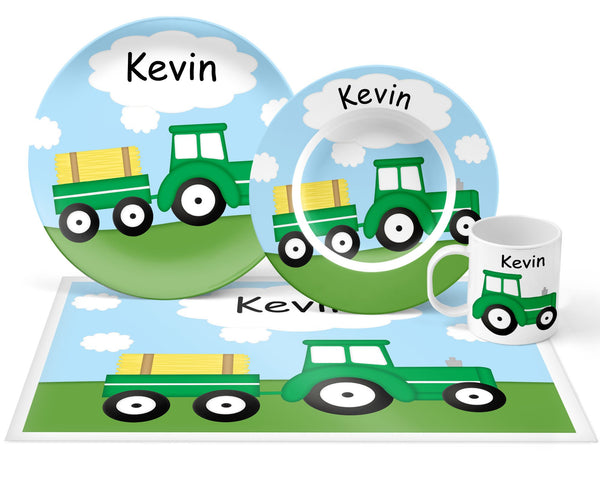 Tractor Green Kids Bowl