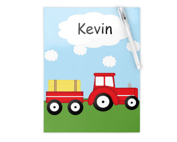 Tractor Red Kids Notebook
