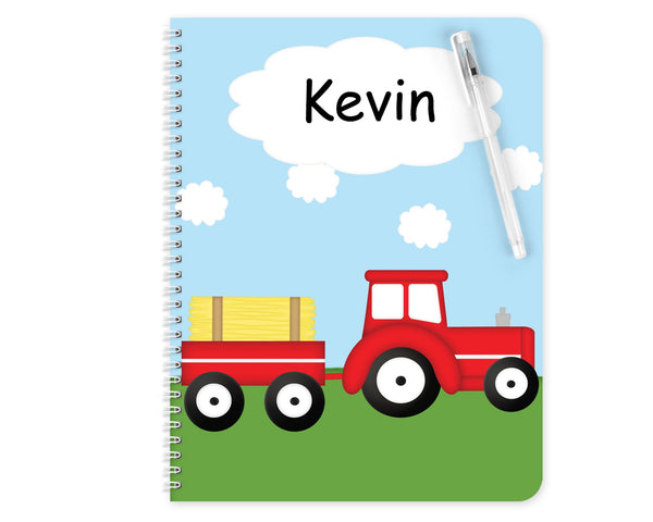 Tractor Red Kids Folder