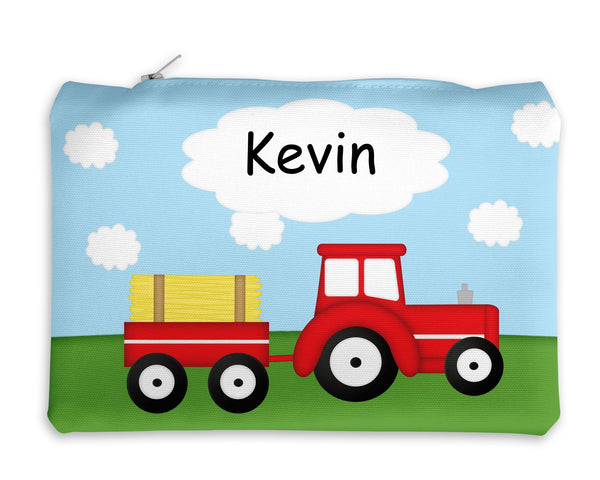 Tractor Red Kids Pencil Case