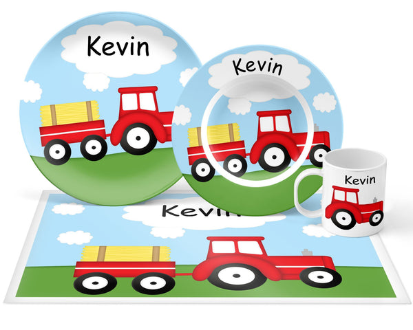 Tractor Red Kids Placemat
