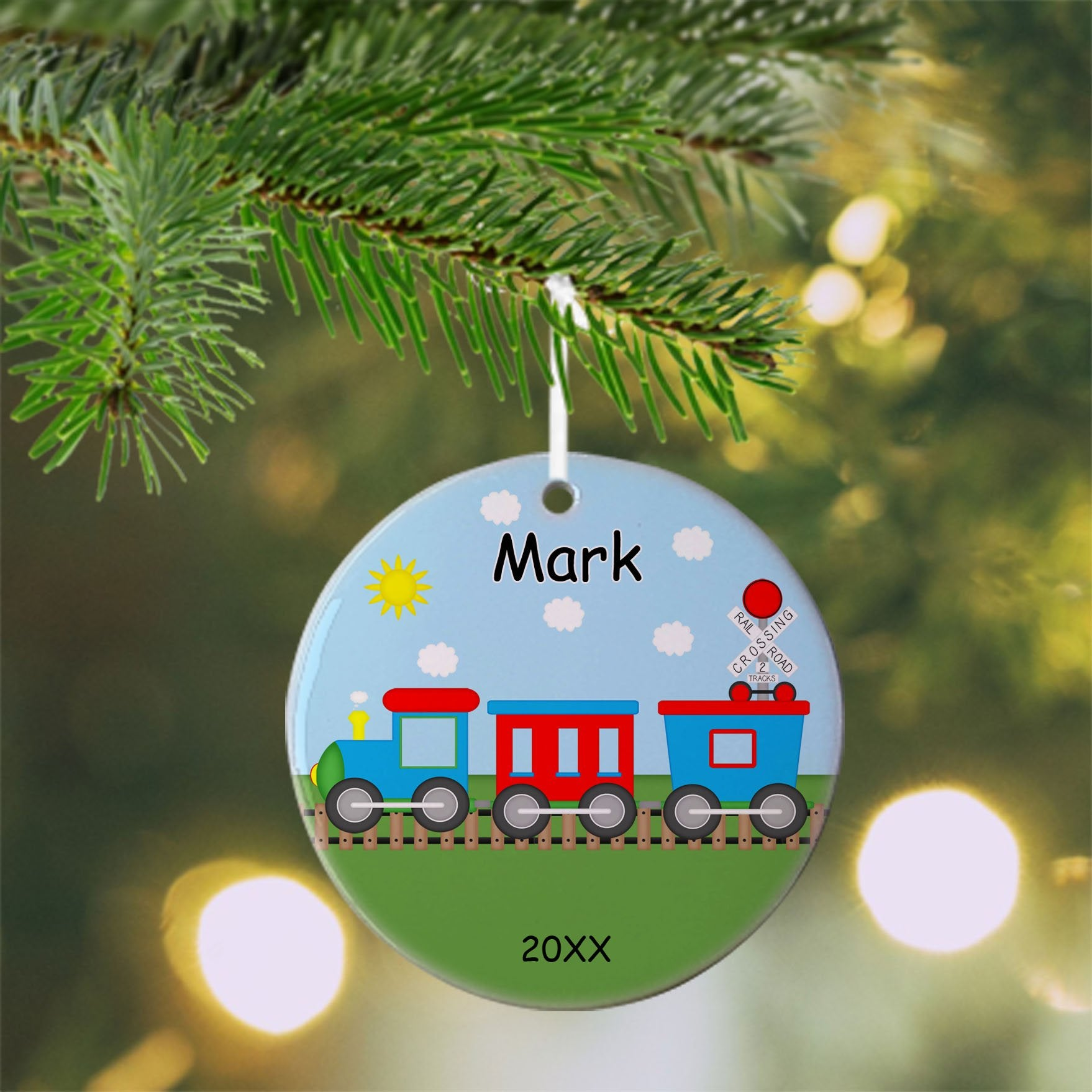 Train Christmas Ornament