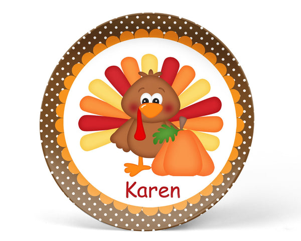 Thanksgiving Turkey Kids Plate