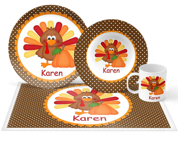 Thanksgiving Turkey Kids Placemat