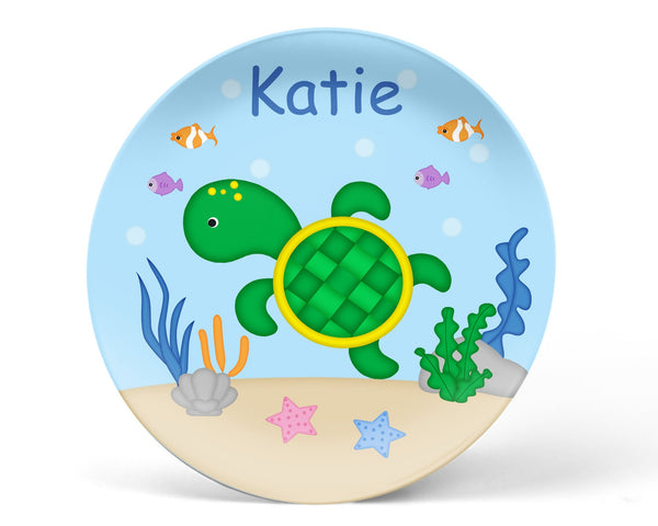 Cute Turtle Kids Plate