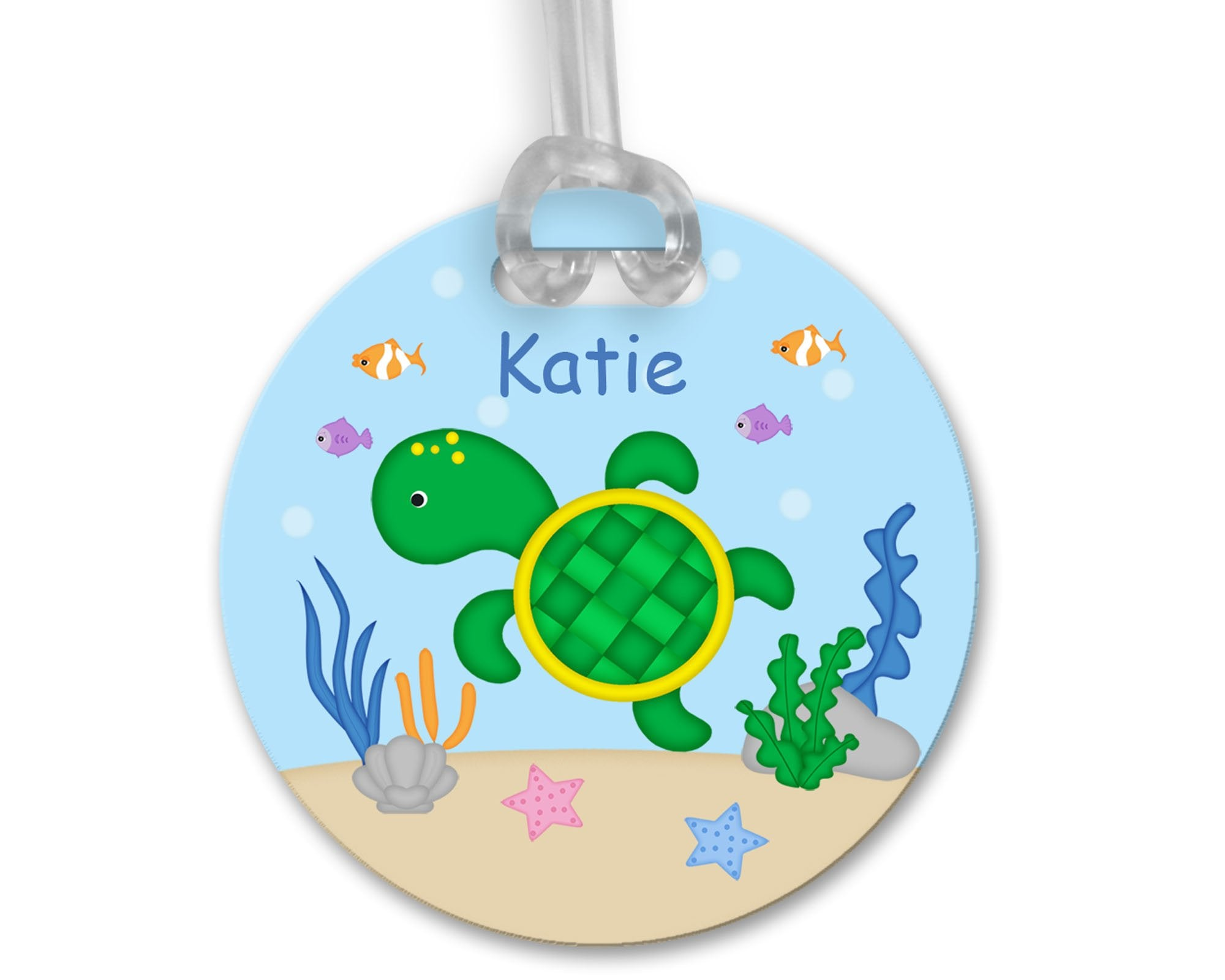 Cute Turtle Bag Tag