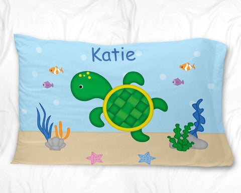 Cute Turtle Pillow Case