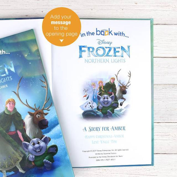 Personalized Disney Frozen Northern Lights Storybook