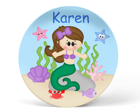 Under the Sea Princess Kids Plate