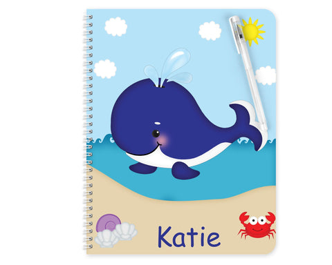 Whale Blue Kids Notebook
