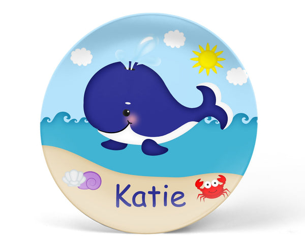Whale Blue Kids Bowl