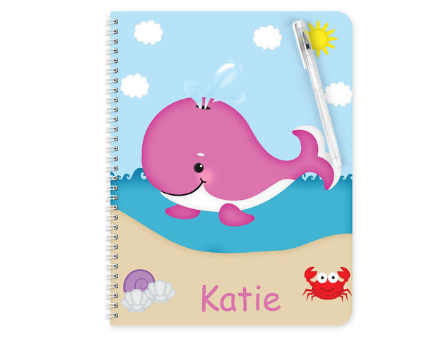 Whale Pink Kids Notebook