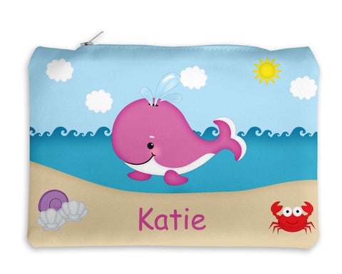 Whale Pink Kids Pencil Case
