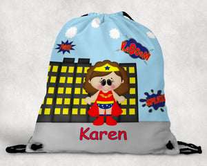 Wonder Women Superhero Drawstring Bag