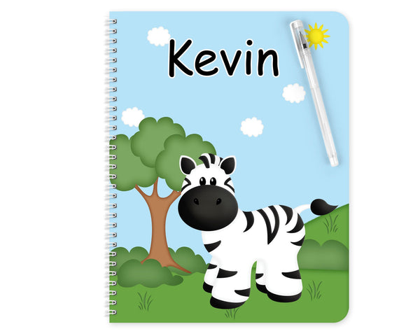 At the Zoo Zebra Kids Notebook