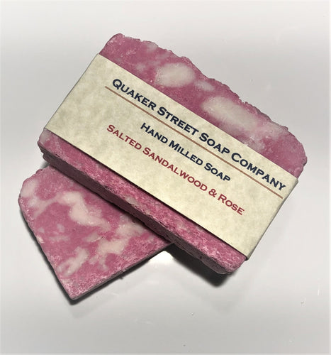Salted Sandalwood and Rose Hand Milled Soap