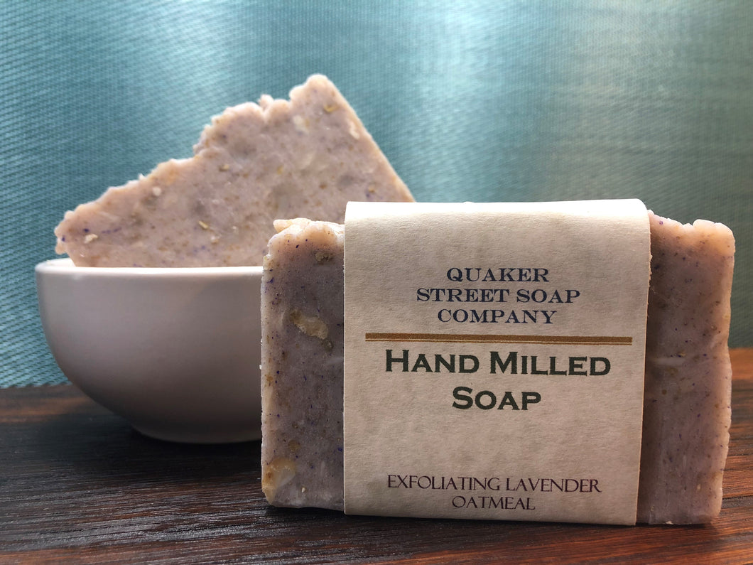 Exfoliating Lavender Oatmeal Hand Milled Soap