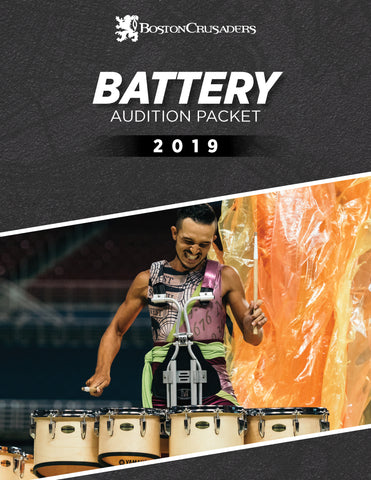 2019 Battery Audition Packet