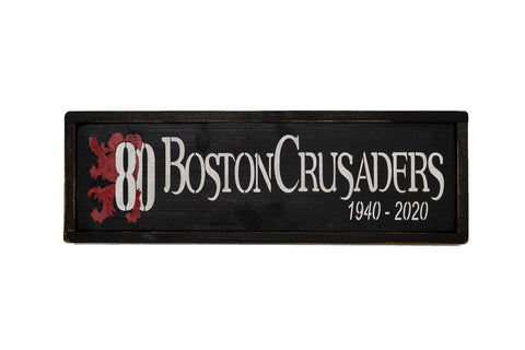 80th Anniversary Wooden Sign