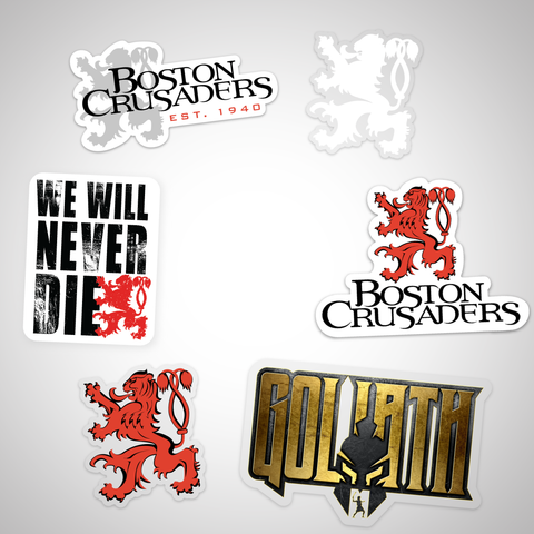 Boston Crusaders Sticker Pack