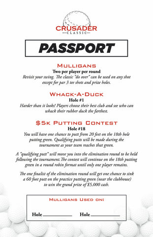 Passport (mulligans, $5k prize opportunities, and more!)
