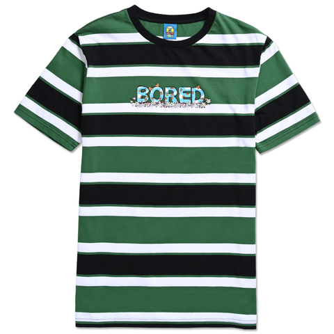 BORED SKIES STRIPE TEE GREEN