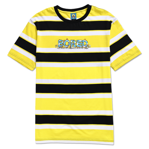 BORED SKIES STRIPE TEE YELLOW