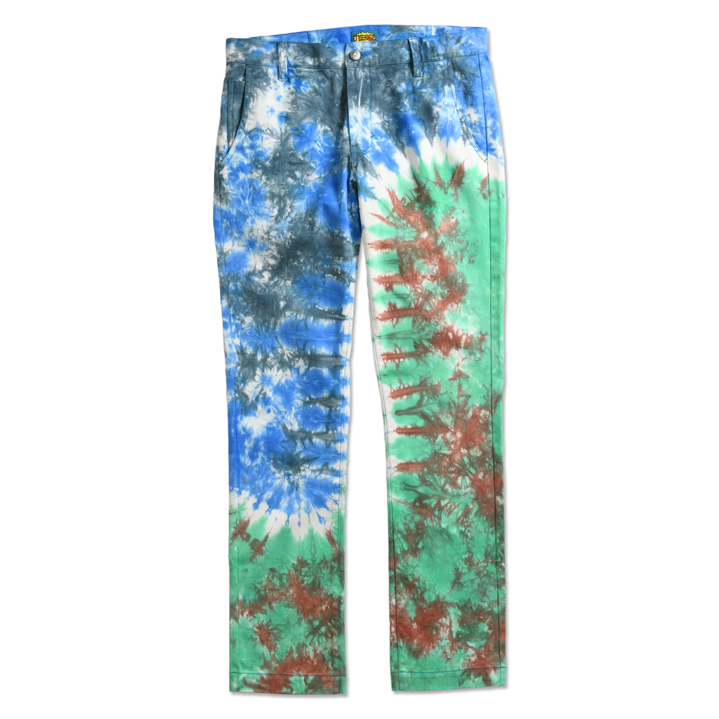 TEENAGE - TIE DYE CHINOS by Blake Anderson's clothing brand BORED TEENAGER