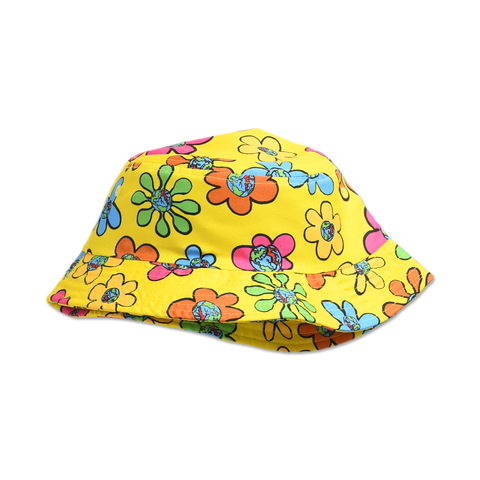 FLORAL BUCKET HAT - YELLOW