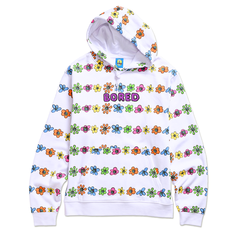 TEENAGE - FLORAL STRIPED HOODIE by Blake Anderson's clothing brand BORED TEENAGER