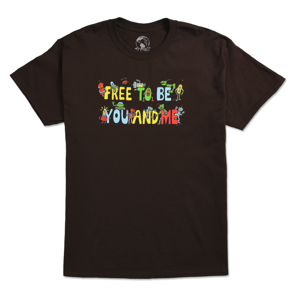 FREE TO BE ME TEE - CHOCOLATE