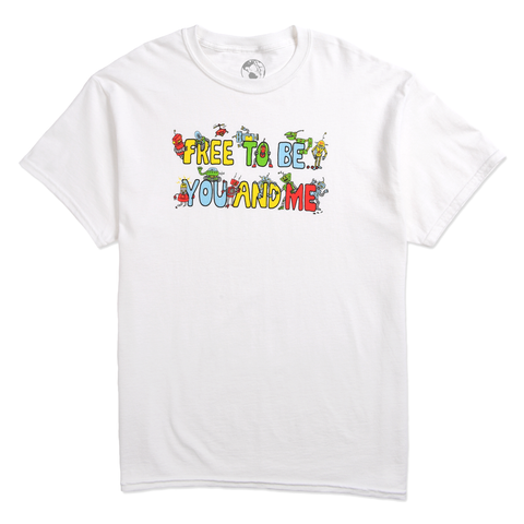 FREE TO BE ME TEE - WHITE