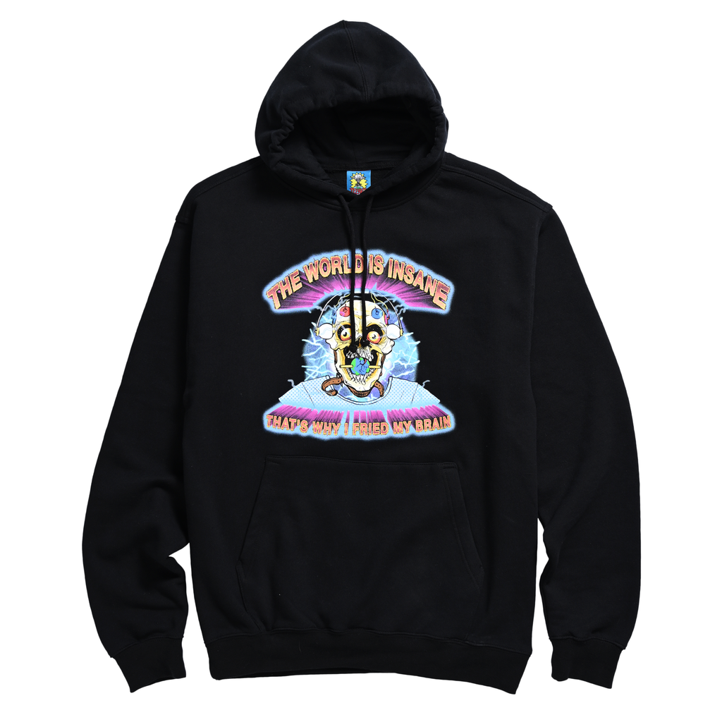 FRIED MY BRAIN HOODIE by Blake Anderson's clothing brand BORED TEENAGER