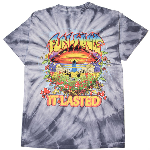 FUN WHILE IT LASTED TEE - SILVER TIE DYE