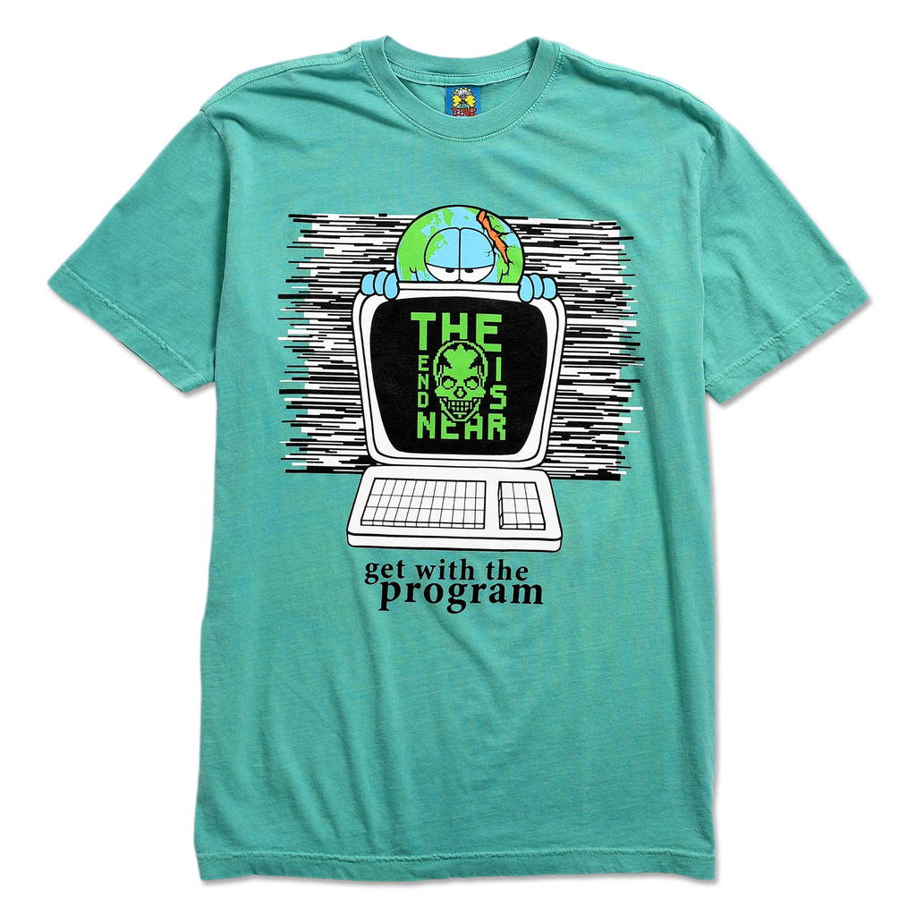 TEENAGE - GET WITH THE PROGRAM TEE by Blake Anderson's clothing brand BORED TEENAGER