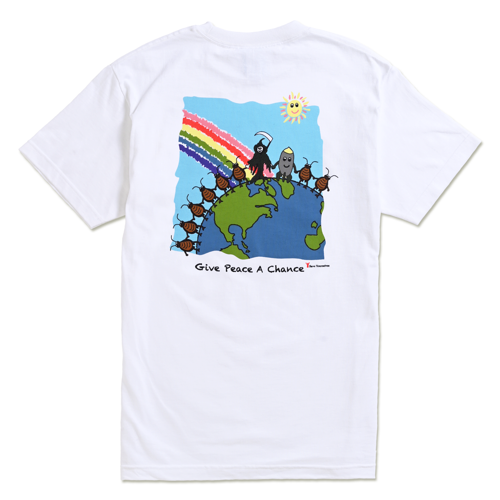 GIVE PEACE A CHANCE TEE by Blake Anderson's clothing brand BORED TEENAGER