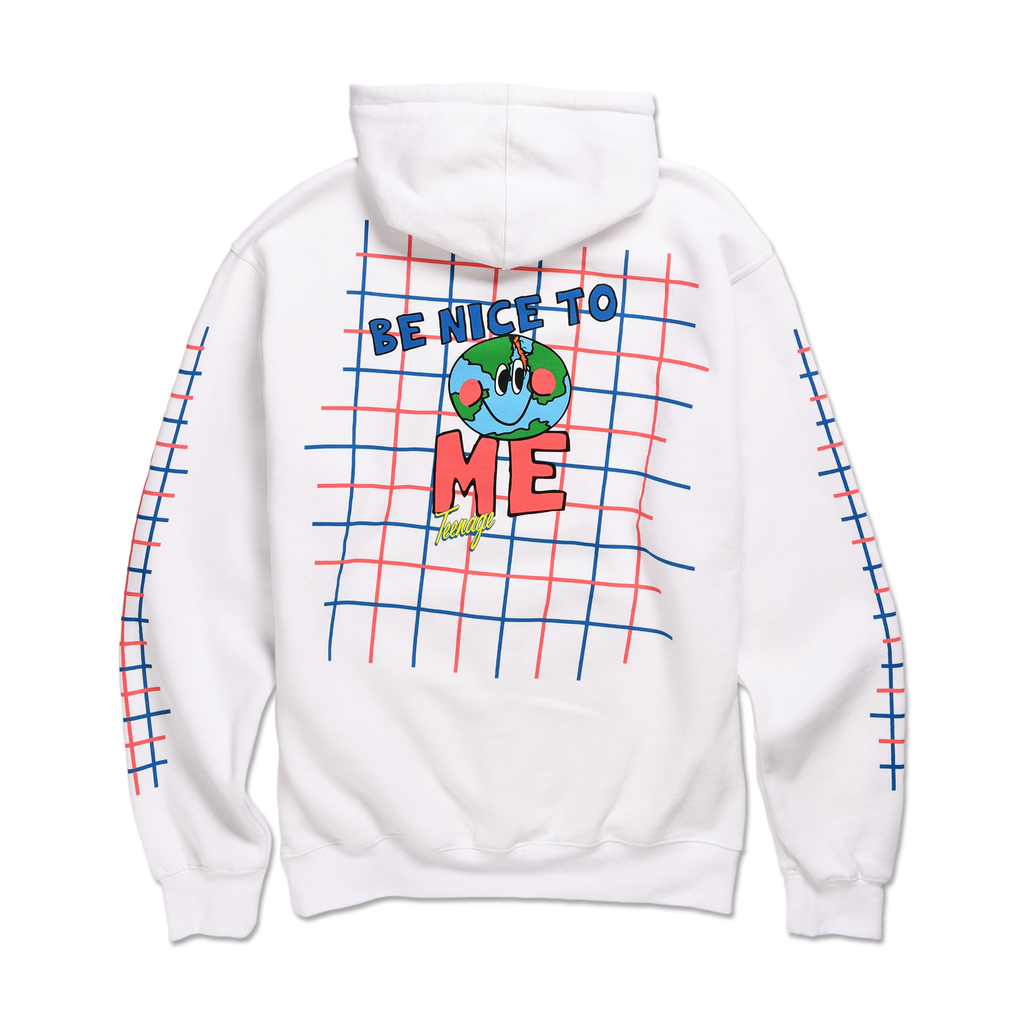 BE NICE TO ME HOODIE by Blake Anderson's clothing brand BORED TEENAGER