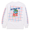 BE NICE TO ME LONG SLEEVE TEE by Blake Anderson's clothing brand BORED TEENAGER