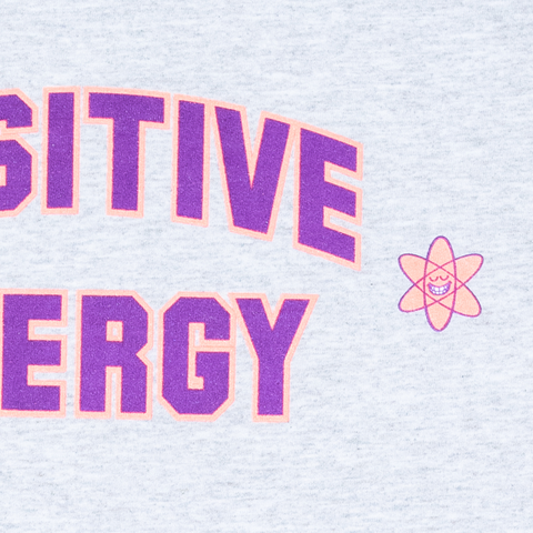 POSITIVE ENERGY TEE - ASH by Blake Anderson's clothing brand Teenage aka Bored Teenager. -  Detail