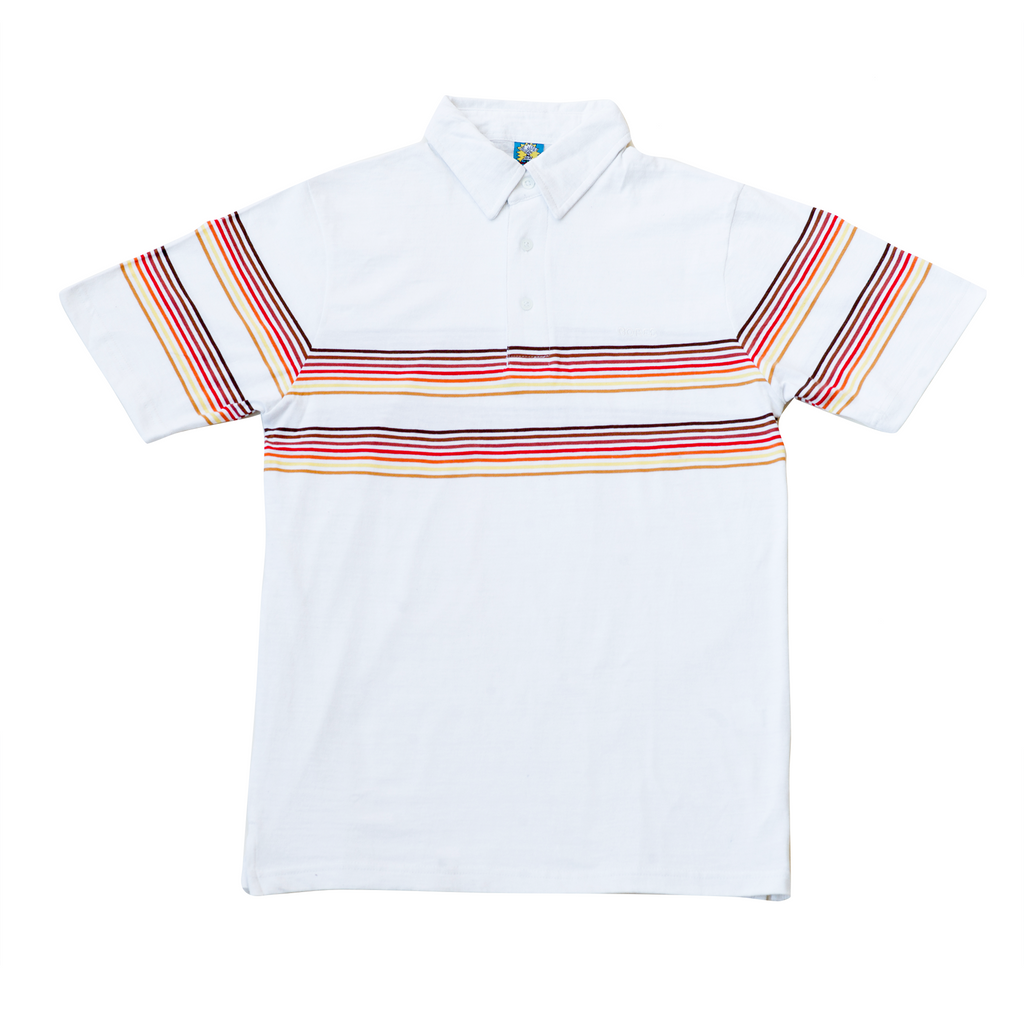 STRIPE EMBROIDERED POLO