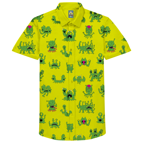 SLIME MONSTER BUTTON UP
