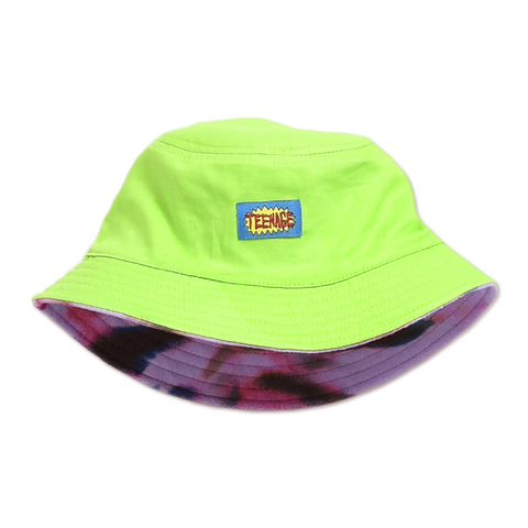 TIE DYE TECH FLEECE REVERSIBLE BUCKET HAT